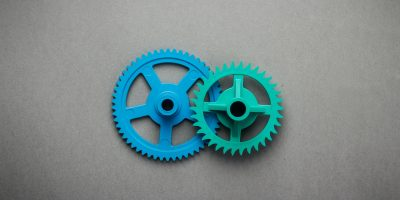 Blue And Green Gears
